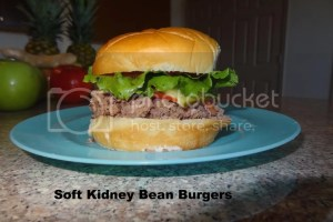 Soft Kidney Bean Burgers