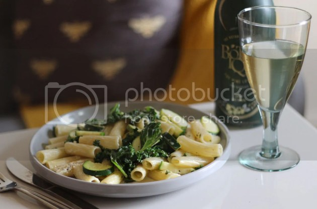 photo Green Vegetable Pasta with Lemon White Wine Sauce 5_zpsbglqmto5.jpg