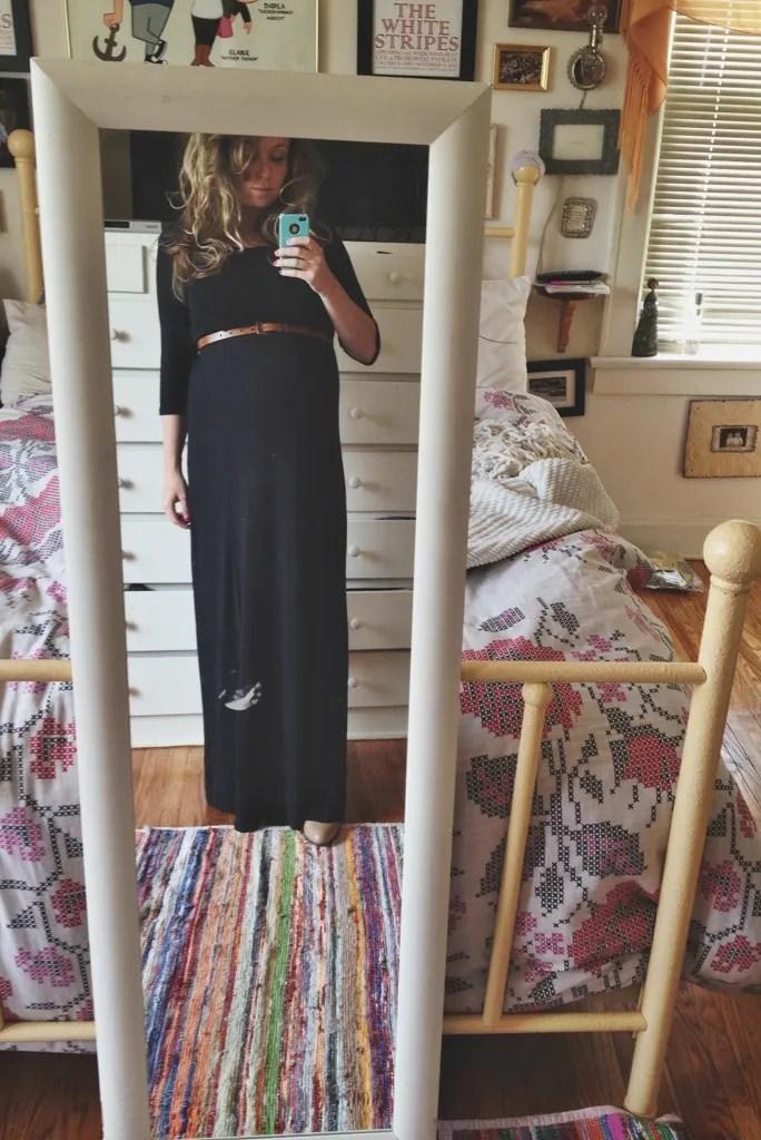 avoiding maternity clothes