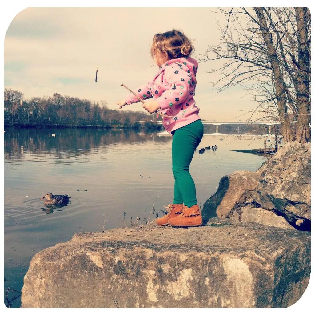 river toss