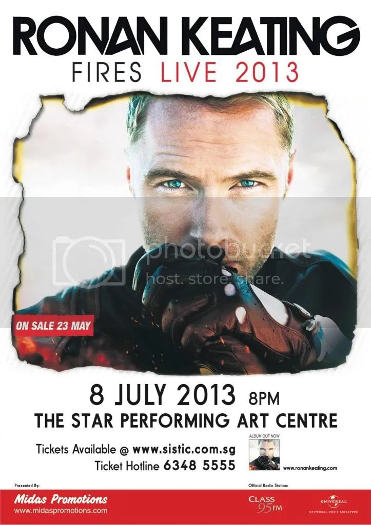 ronan, keating, singapore, concert