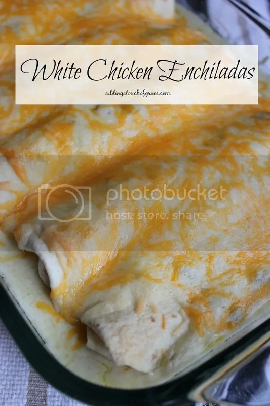 Simple and delicious white chicken enchiladas.