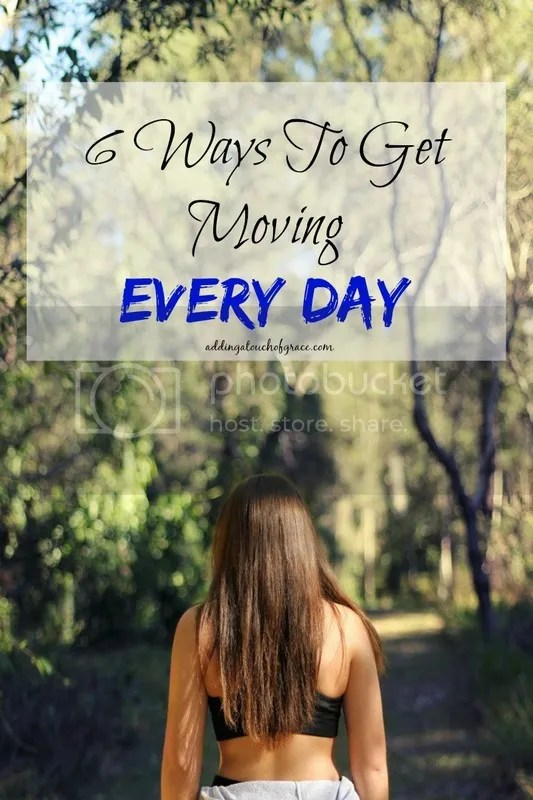 We are all busy, but that's no excuse to neglect our health. These 6 ways to get moving every day are easy to incorporate into some part of your day.