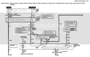 1994 Ford aspire wiring diagram