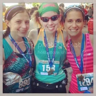Kat, Me, and Janelle proudly displaying our finisher's medals at the finish of the Buffalo Marathon - Buffalo, New York.  So proud of these ladies!