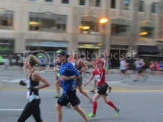 Me at Mile 3 of the Bank of America Chicago Marathon - Chicago, Illinois