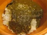Tasty Bite Spinach Dal over jasmine rice