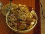 Nature's Path Gluten Free Selections Summer Berries Granola over a Caramelized Apple and Greek Yogurt Breakfast Parfait