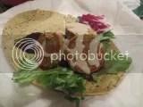 SoL Cuisine Organic Falafel with Organic Tahini Sauce on a Gluten-Free Spinach Garlic Pesto Sandwich Petal