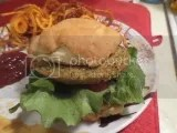 A gluten-free and vegan burger made with Hilary's Eat Well World's Best Veggie Burger