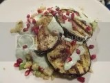 Grilled Eggplant with Greek Yogurt Dressing over a Gluten Free Couscous Salad using Molino di Nicoli Gluten Free Couscous