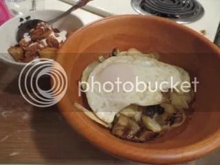 Crispy Potato Chips with Sautéed Cabbage
