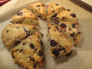 Gluten-Free Blueberry and Dark Chocolate Scones