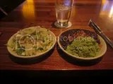 Alma Cocina's Side Orders of Mexican Chopped Salad (left) and Black Beans and Poblano Chili Rice (right)