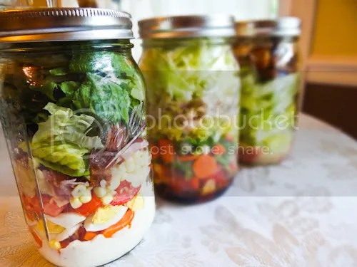 Prep once and have lunches waiting in the fridge all week. Try these Salad in a Jar options or create one of your own!