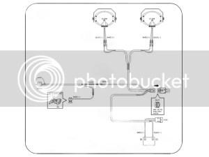 Complete Spot Fog Light Wiring Loom Harness Switch Kit