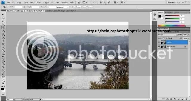 Belajar Photoshop Membuat Efek Til-shift Pada Foto Menggunakan Mask