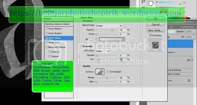 Belajar Photoshop Membuat Text Dengan Style Harry Potter