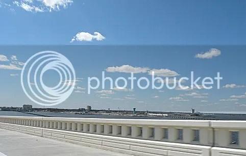 View of Biloxi from the US Hwy 90 Bridge between Ocean Springs and Biloxi