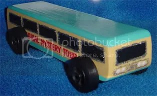 Magical Mystery Tour Bus Pinewood Derby Car