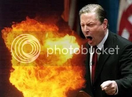Al Gore, Spewer of Fire
