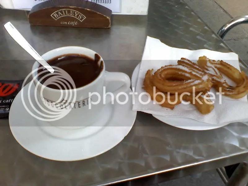 My chocolat con churros