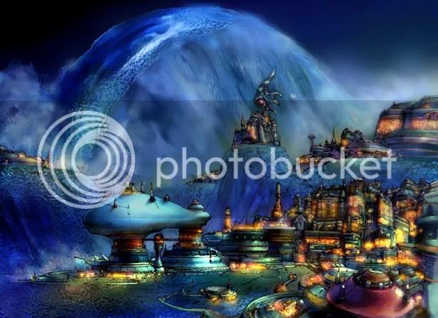 Ciudad futurista acuática