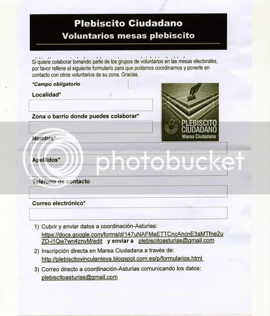 Plebiscito ciudadano Del 23 al 30 de junio LA DEMOCRACIA ESTARÁ EN LA CALLE
