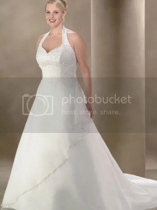 bandage wedding dress for plus size