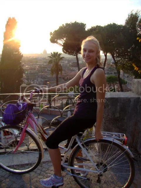 Rome Biking Sunset