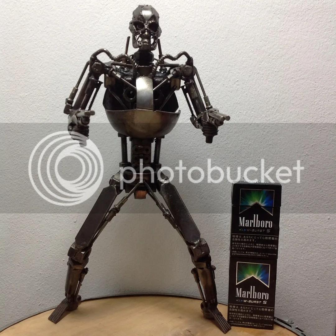 Terminator Robot Full Body Handmade From Scrap Parts Art