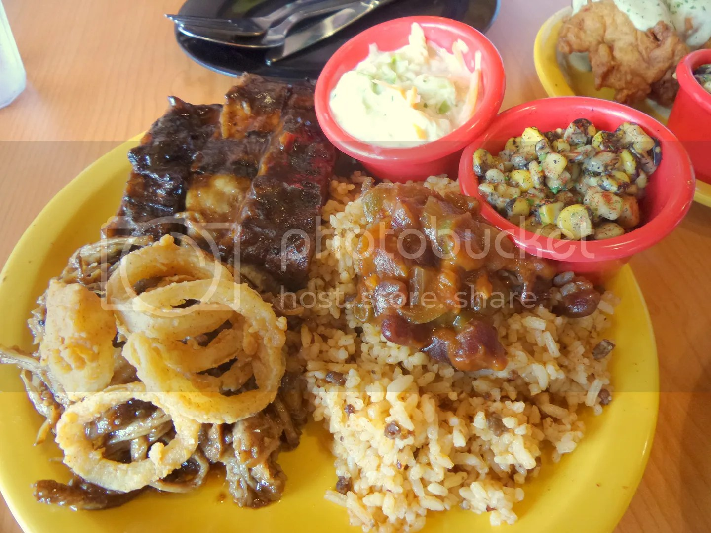 Chubby's Special - 279php. For those not sure whether they'd like the pulled pork or the ribs get this platter! It's a great combination of the two. The best of both dishes!