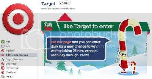 Facebook Promotions - Target