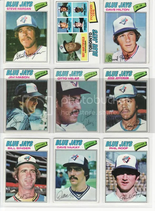 1977 Blue Jays Set - Page 1