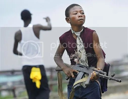 children soldier in action