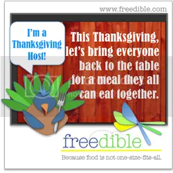 I'm an official freedible Thanksgiving Host - ask me about their campaign!