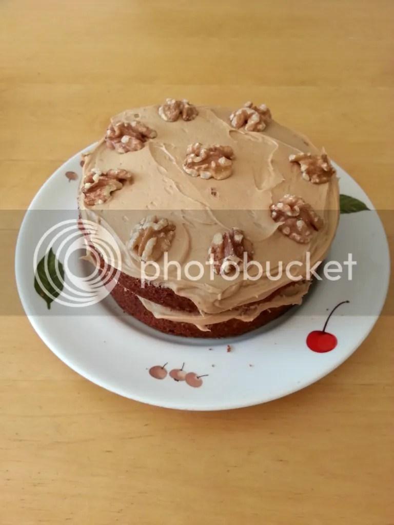 cofefe and walnut cake