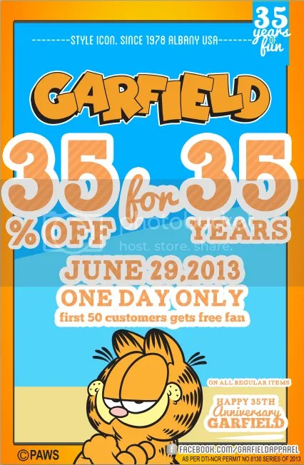Garfield Apparel's 35 for 35!
