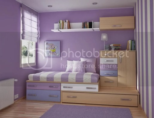 kids room design in purple