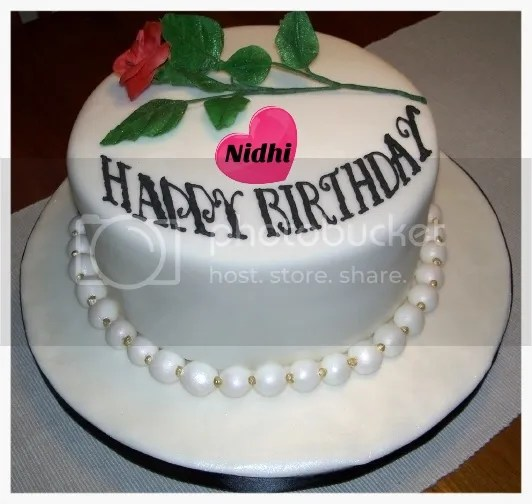 Happy Birthday Cake Vandana