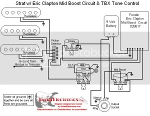 Fender Eric Clapton TBX Wiring Diagram Photo by