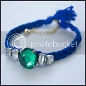 DIY: Braided Rhinestone Friendship Bracelet