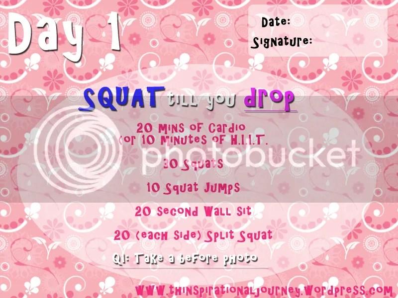 Squat till you drop challnege Day 1