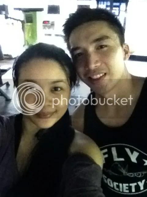 Lara Novales and Jake Abueg at Eclipse Gym Bacolod