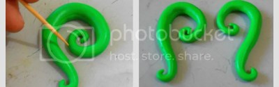 DIY false earring plugs {polymer clay tutorial} - step 2