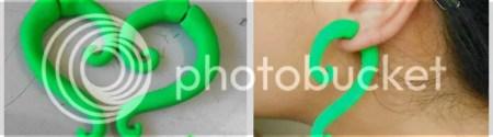 DIY false earring plugs {polymer clay tutorial} - step 10