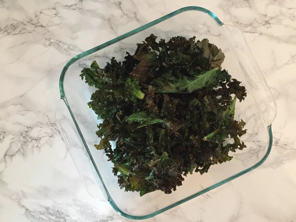 meal prep kale chips