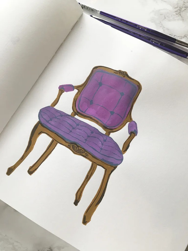 aforementioned purple chair