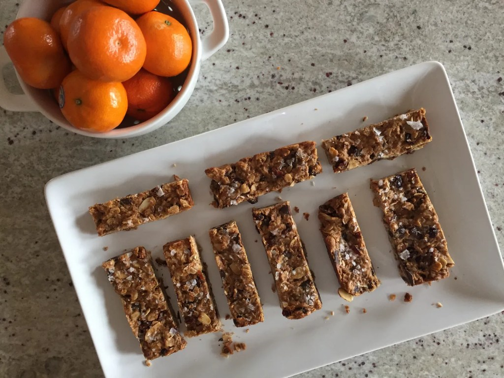 gluten free peanut butter cranberry dark chocolate granola bars