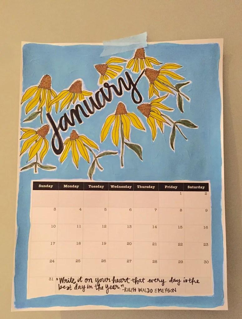 january goals and a printable calendar